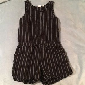 Black and white girls romper tank/short